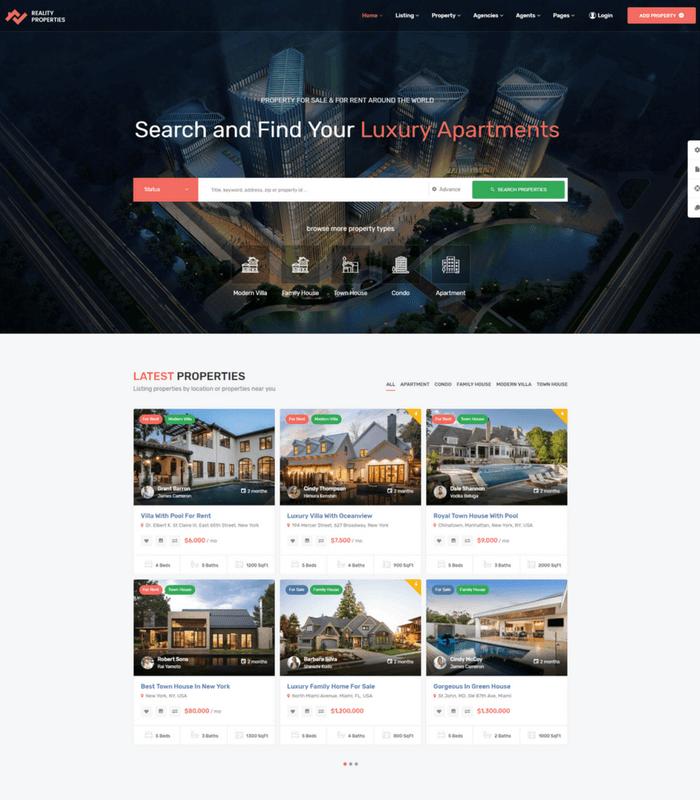 Reality real estate theme