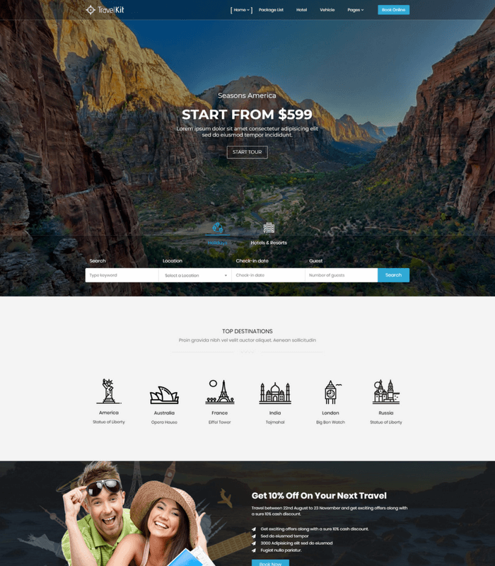 TravelKit WordPress theme