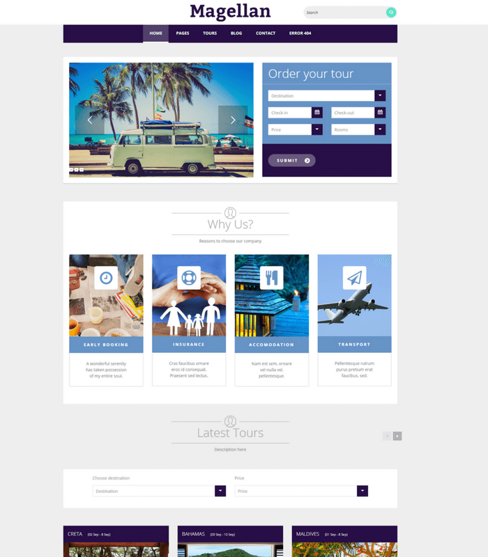 Magellan Travel Theme