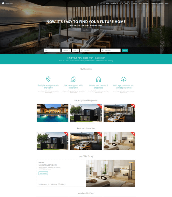 reales WordPress theme