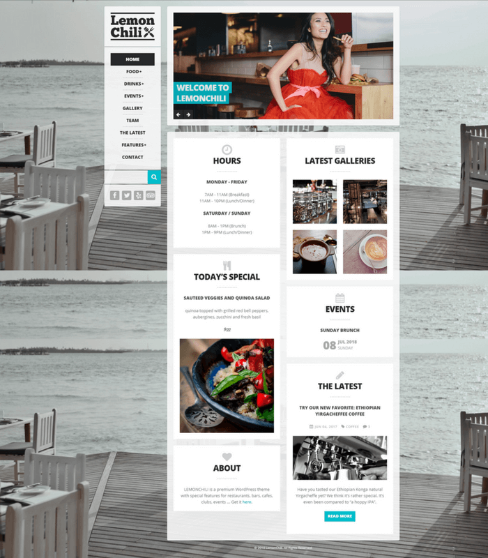 lemonchili WordPress theme
