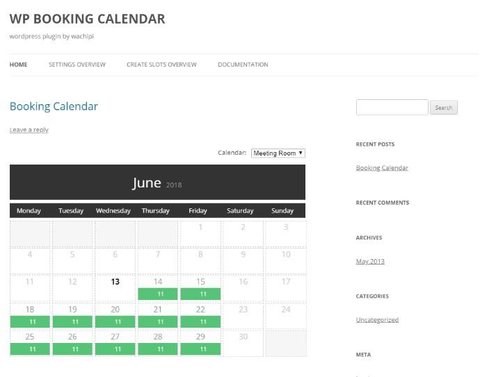 WP-booking-calendar