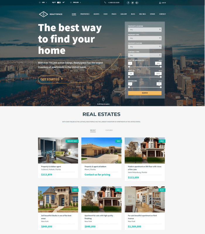 realty space theme