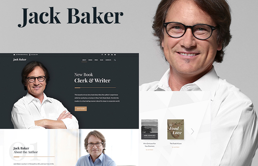 Books Author WordPress Theme