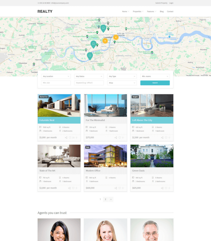 realty property business theme