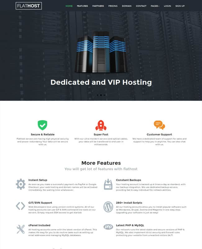 FlatHost-WordPress-Flat-Hosting-Theme