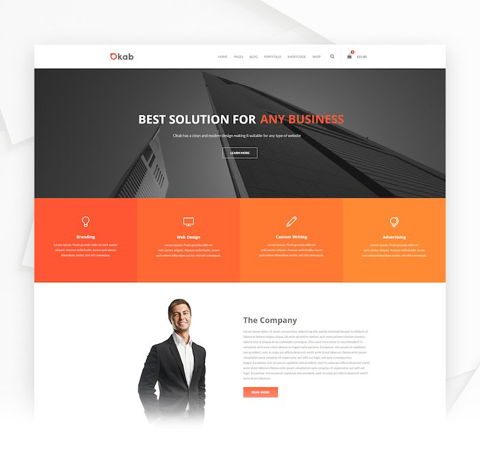 Okab WordPress Theme