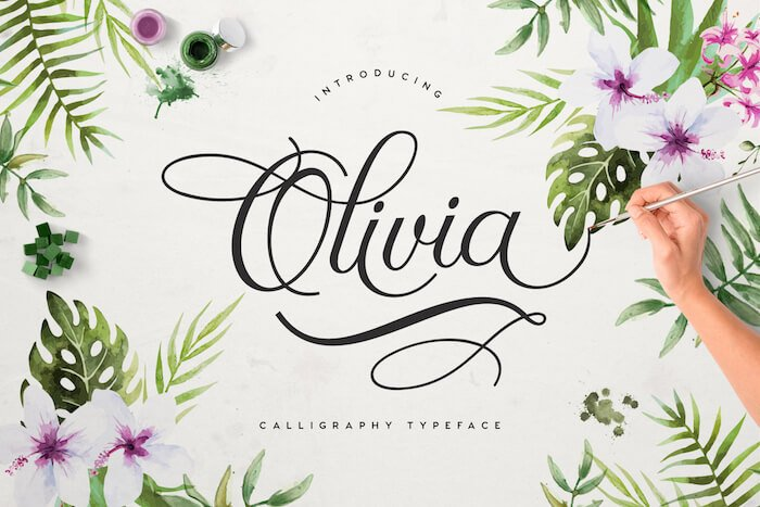 Olivia calligraphy typeface
