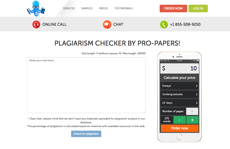 PLAGIARISM CHECKER BY PRO-PAPERS