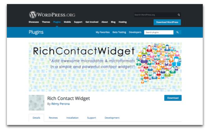 Rich Contact Widget