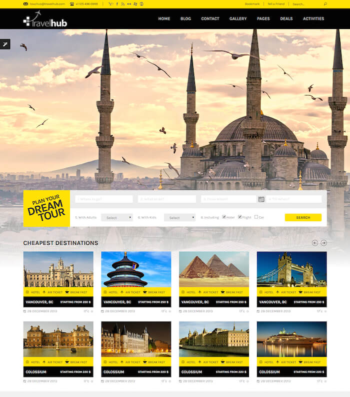 Travelhub WordPress Theme