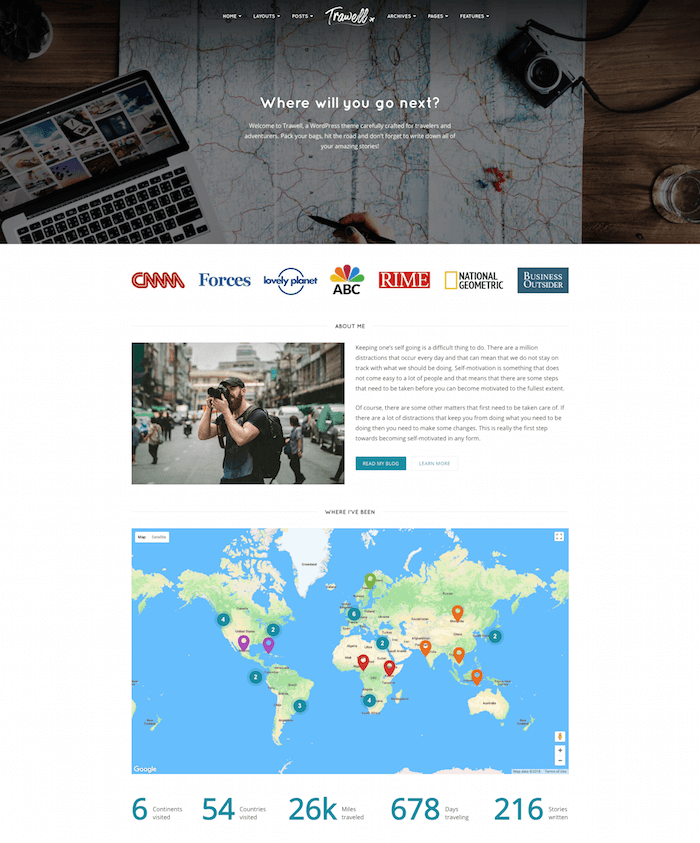 Trawell Travel Business Theme