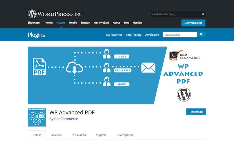 WP Advanced PDF