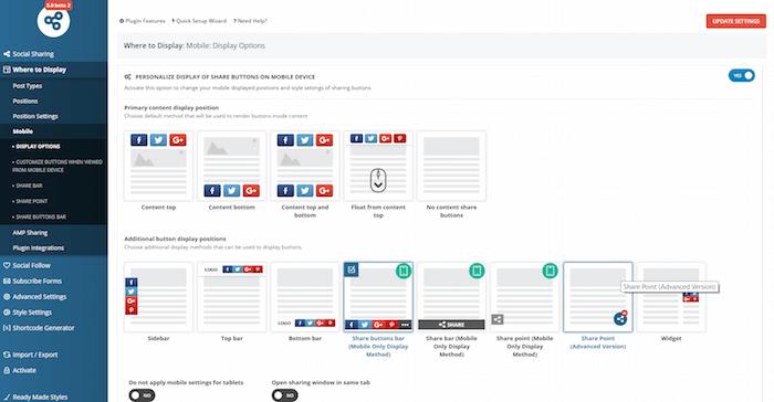 easy social sharing button