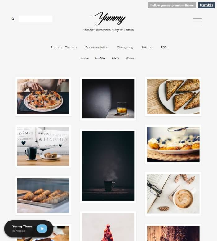 Yummy Minimal Tumblr Theme