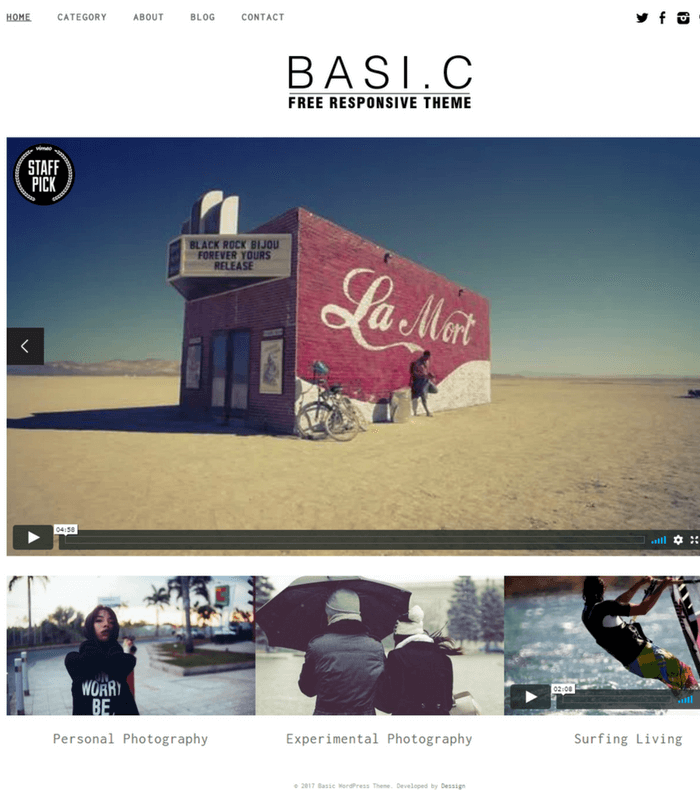 Basic WordPress Theme