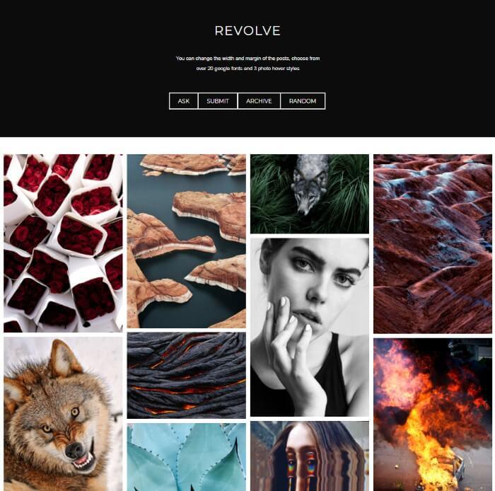 Revolve Tumblr Theme