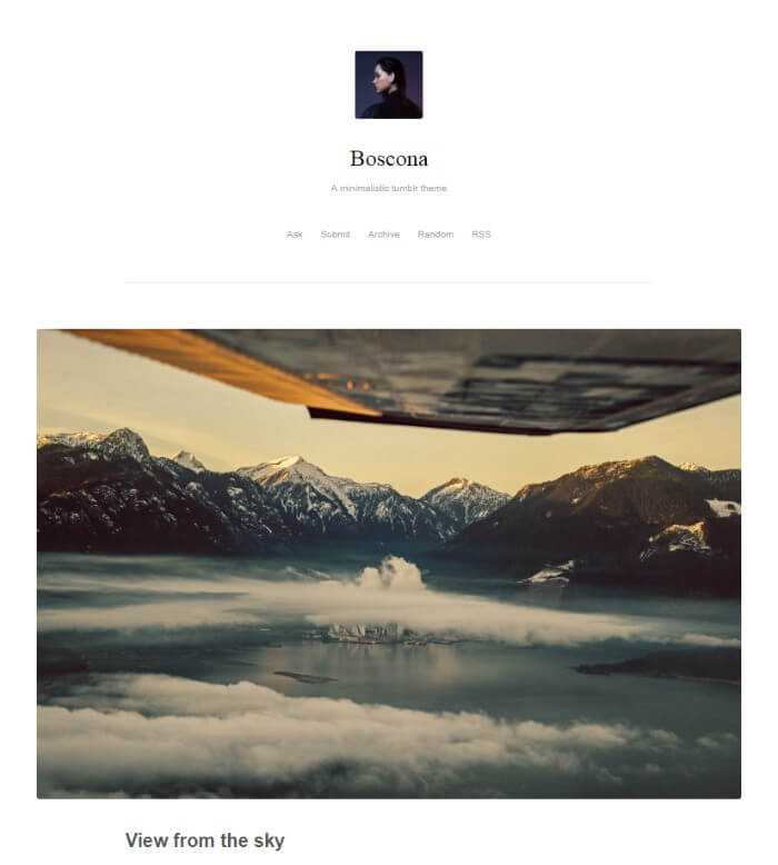 boscona tumblr theme