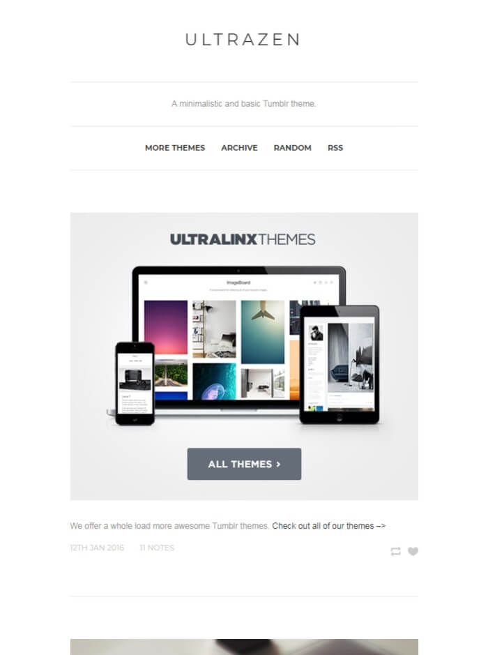 Ultrazen Tumblr Theme