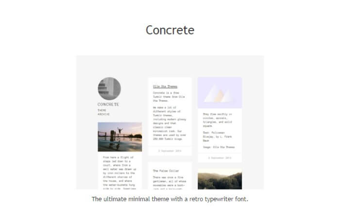 concrete Tumblr theme