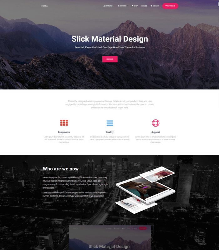 Hestia Minimal WordPress Theme