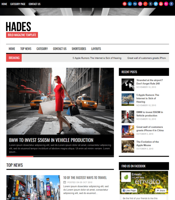 hades-bold news wordpress theme