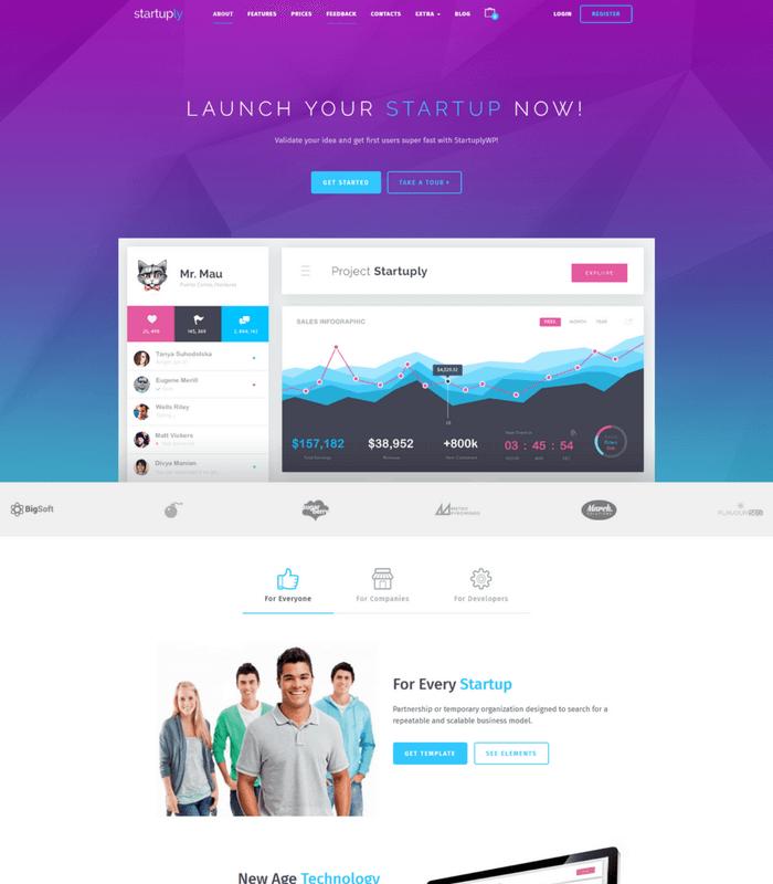 startuply WordPress Theme