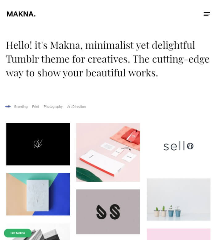 makna Tumblr theme