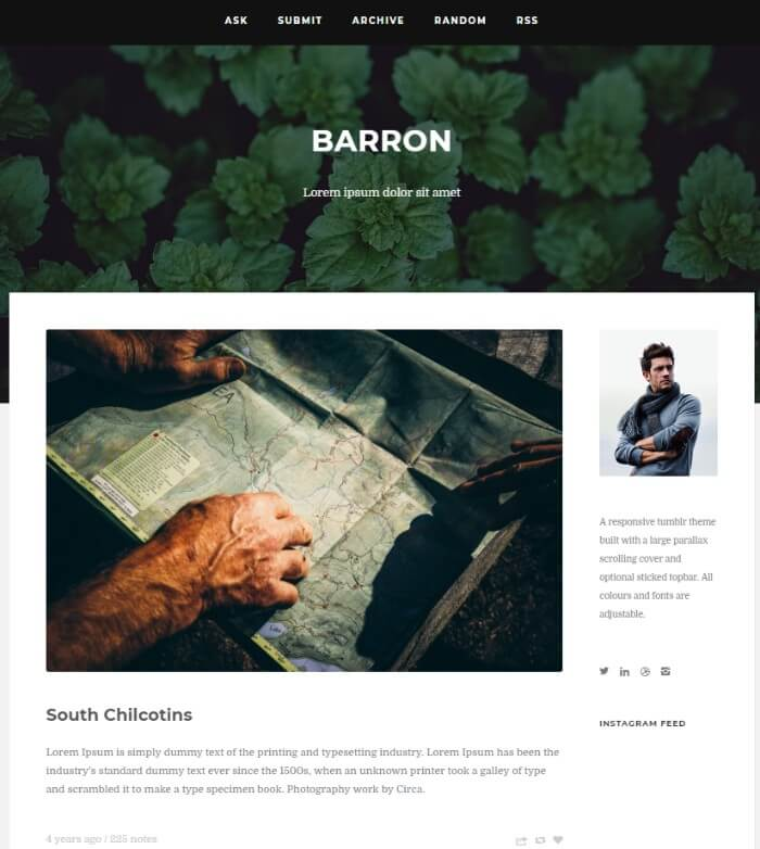 barron Tumblr theme