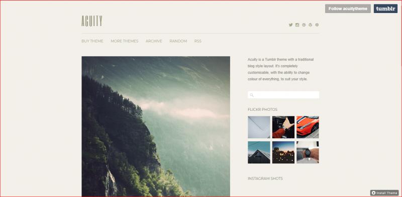 Acuity Tumblr theme