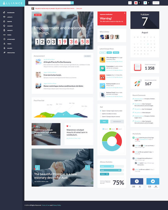 Alliance Intranet & Extranet WordPress Theme