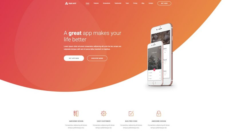 Appland HTML Template