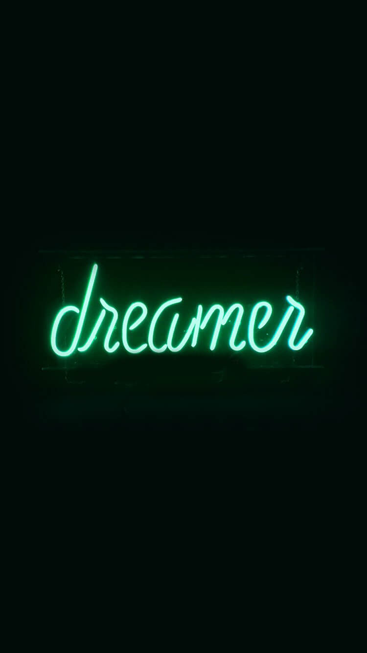 Dreamers Neon Sign Illustration