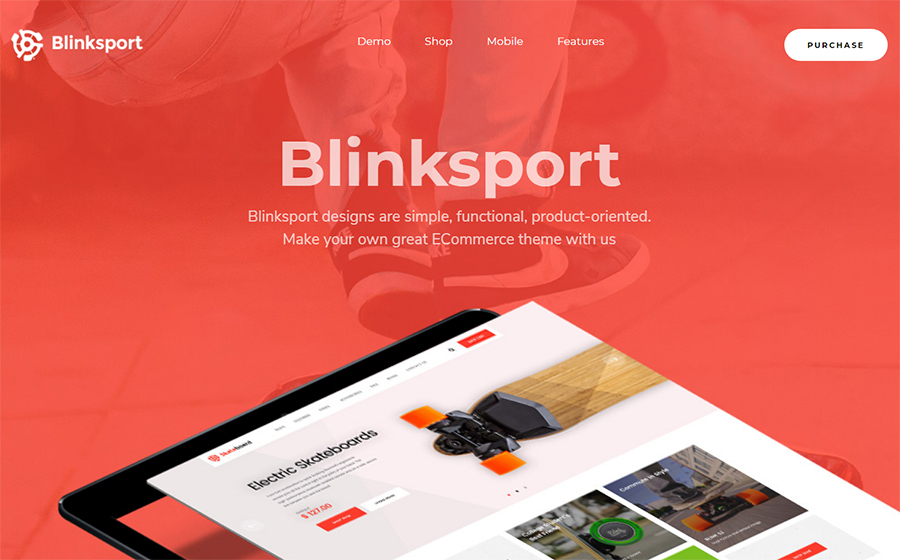 Blink Sport - Skateboard & Sport WooCommerce WordPress Theme