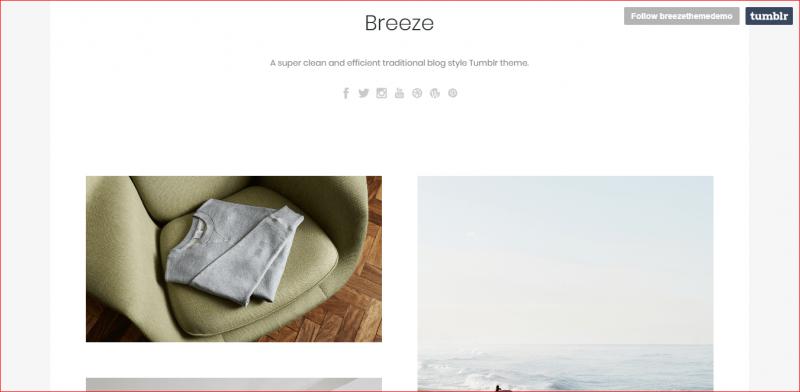 Breeze Tumblr Theme