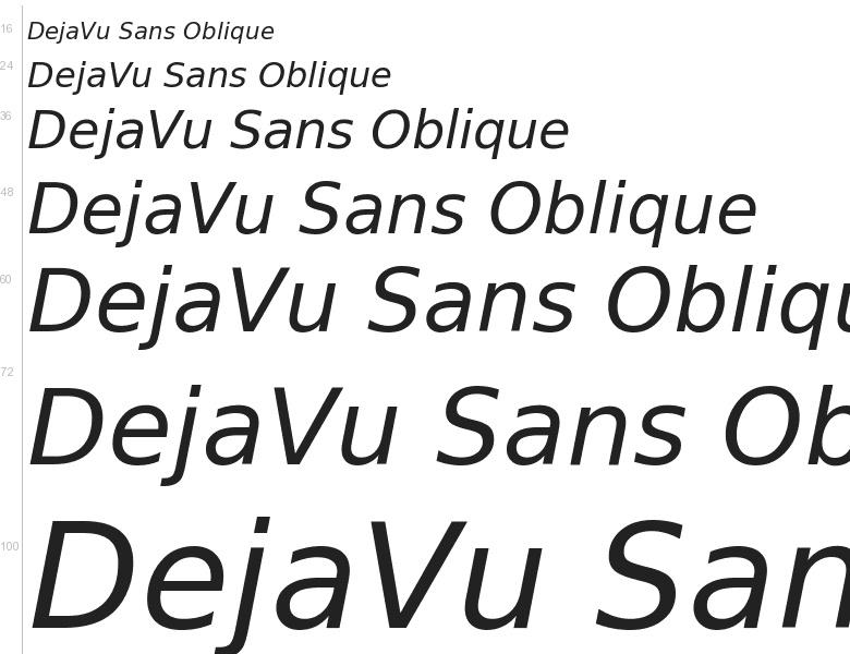 DejaVu Sans Oblique