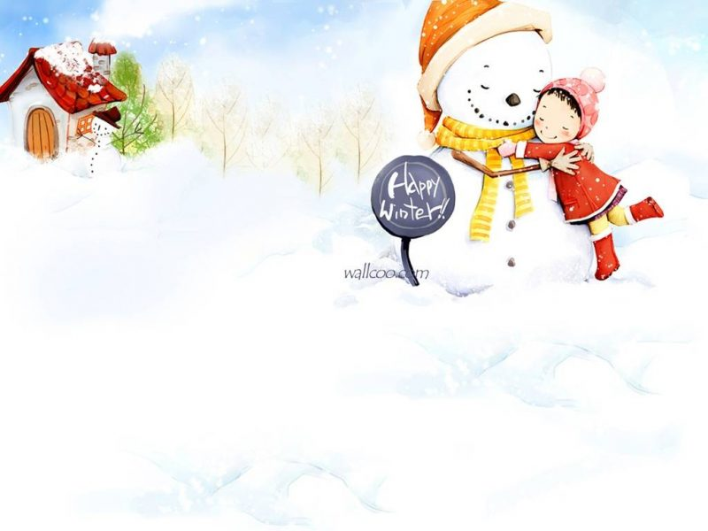 Happy Winters Wallpaper