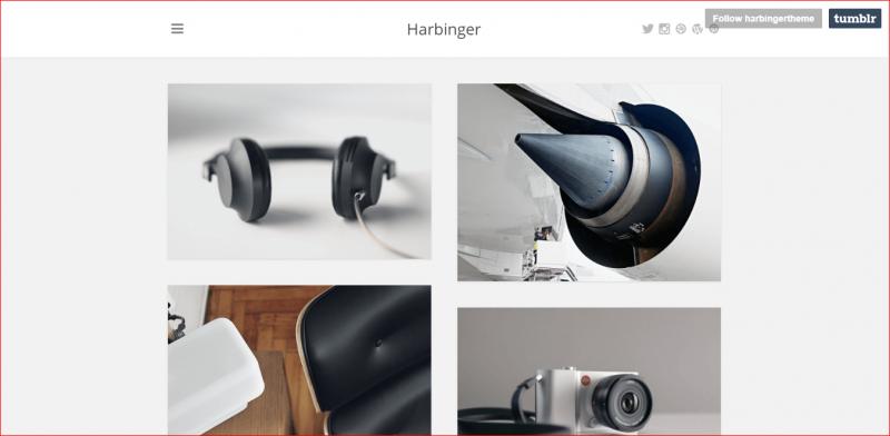 Harbinger Minimal Tumblr Photography Theme
