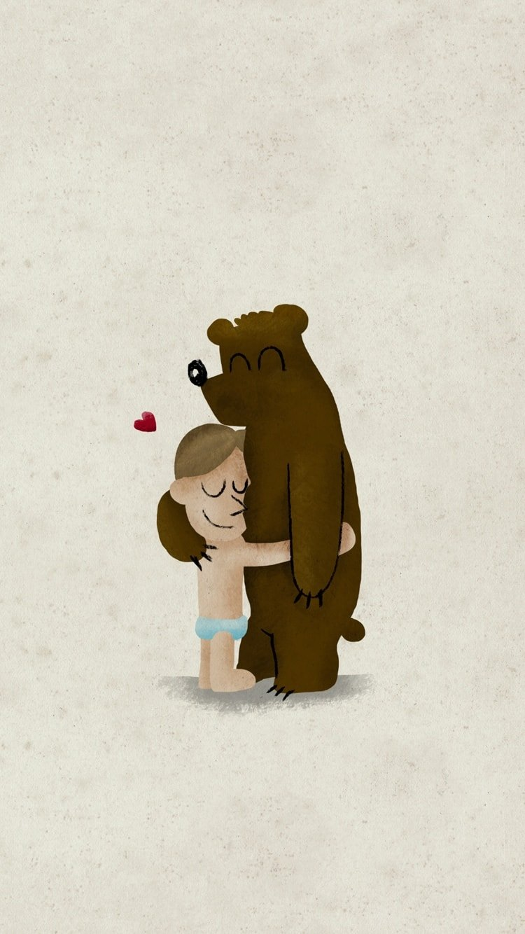 Hug iPhone Wallpaper