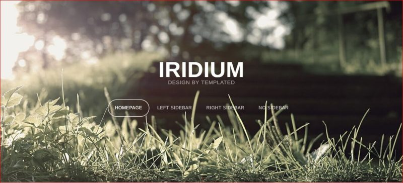 Iridium Adobe Template