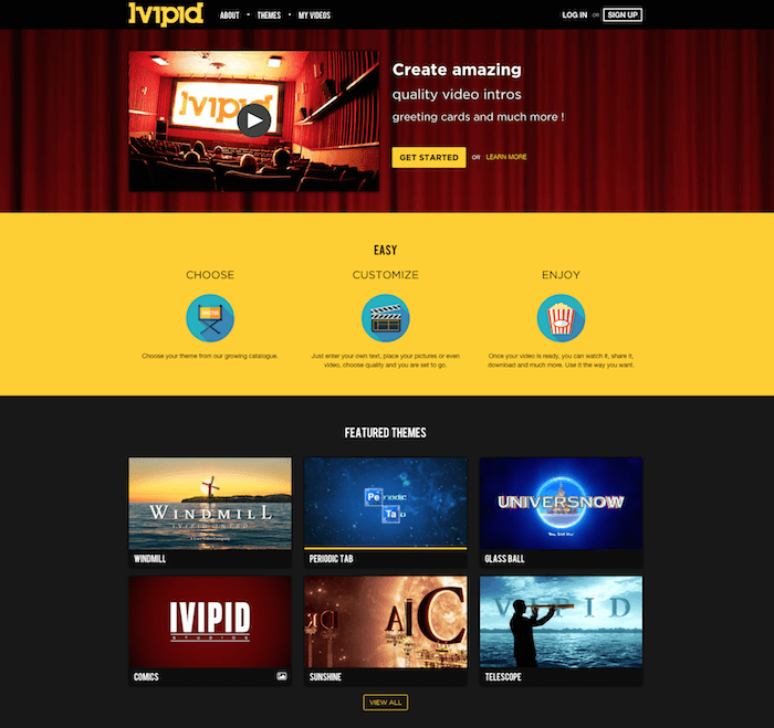 Ivipid YouTube Intro Video Maker