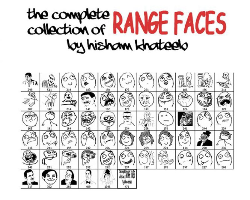 Memes Range Faces Brush