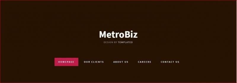 MetroBiz Template
