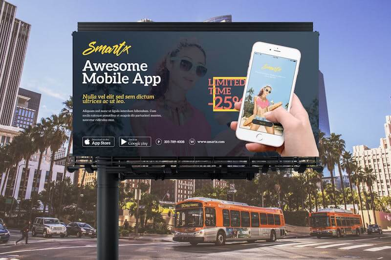 Mobile App Billboard Template