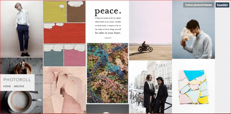 Photoroll Tumblr Theme