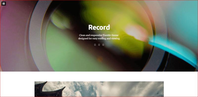 Record Tumblr Theme