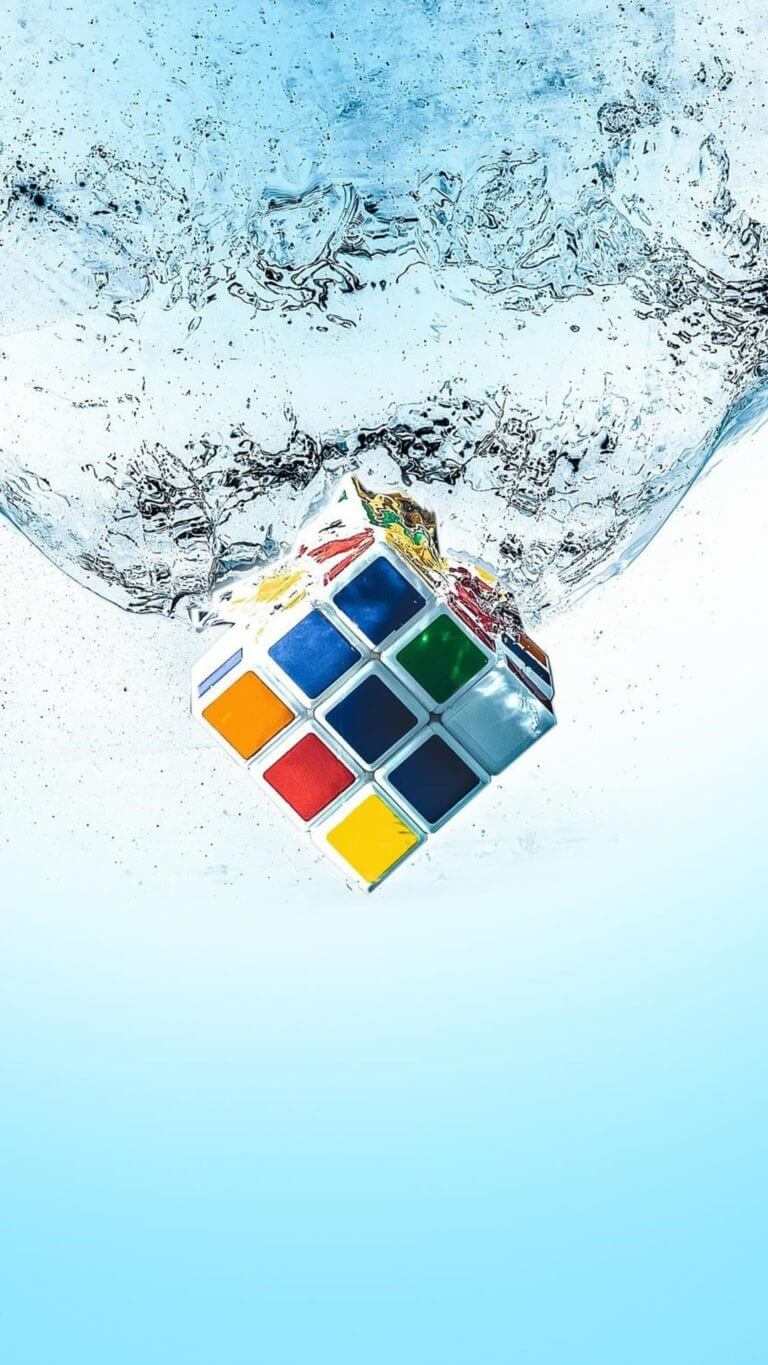 Rubiks Cube Splash Qu Wallpaper