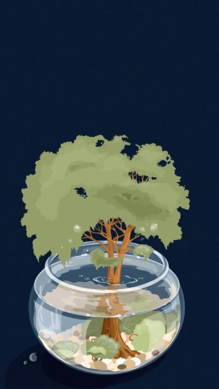 Save Trees Artwork Qhd Wallpaper