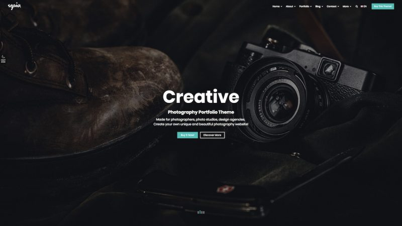 Sepia HTML Template