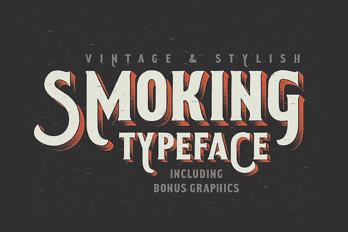 Smoking typeface